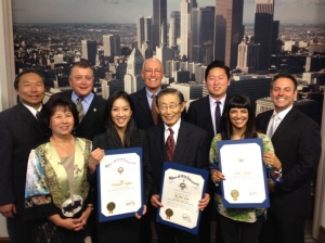 Bill Rosendahl with K.W. Lee, Jyoti Nanda, and Michelle Kwan.