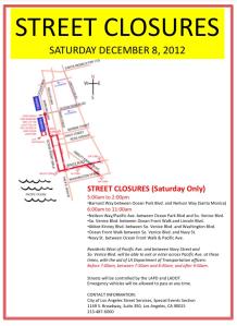 Santa Monica Venice Run Street Closures