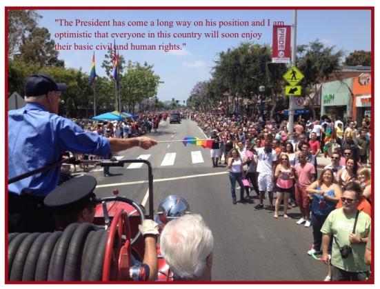 Bill Rosendahl on Gay Rights Inaugurartion Mention