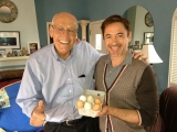 Robert Downey Jr Visits Bill Rosendahl at Home in Mar Vista