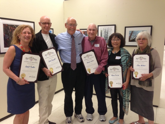 Councilmember Bill Rosendahl celebrates opening of Urban Stories exhibition